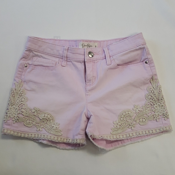 Jessica Simpson pink embroidery shorts